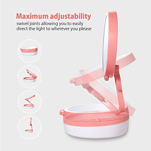 LED-Kosmetikspiegel mit Touch-Screen-Induktionsspiegel Tisch-Arbeitsplatte Kosmetik-Bad mit...