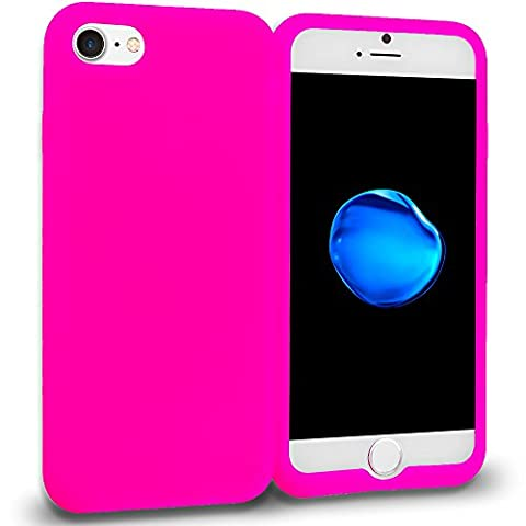 Ikikin iPhone 7 Case, Silicone Rubber Flexible Soft Jelly Skin Case Cover for Apple iPhone 7 (Hot