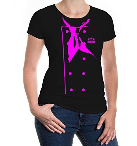 girlie-t-shirt-chef-jacket-m-black-neonpink