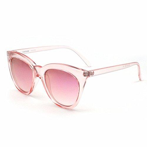 XINMADE FOX Damen Sonnenbrille, verspiegelt, Pink, Pink (rose), Einheitsgröße
