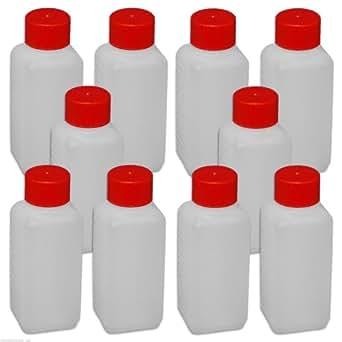 Plastic bottle (10 pcs), flask 100 ml with screw top anti-leak(10x22009) by Wilai GmbH