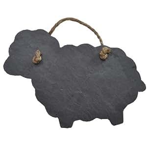 Mouton Forme Plaque de porte en ardoise et tableau noir-Taille M