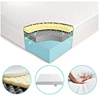 Vesgantti Multilayer Ergonomic Design Memory Foam Mattress – Multiple Sizes Available, with Bamboo Charcoal Foam and High Density Support Foam