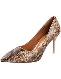 Punta del high-Heel Shoes _ 走 primavera zapatos de mujer señaló los zapatos de