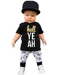 El bebé ropa de la blusa, RETUROM 1 Juego Infantil Muchachas De Los BebÉS De ImpresiÓN De Letras Corta Camiseta Tops + Pants Conjuntos De Ropac