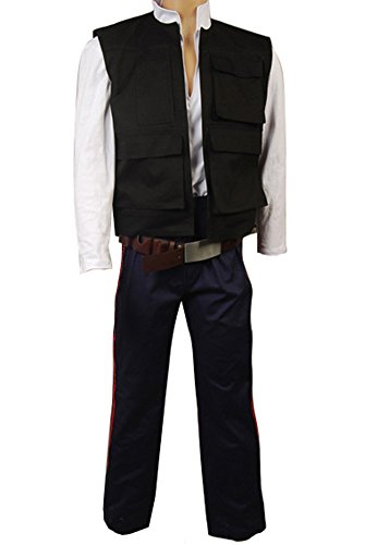 FUMAN Star Wars ANH A New Hope Han Solo Cosplay Kostüm Herren XS