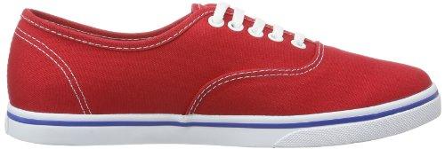 Vans Authentic Lo Pro, Chaussures De Sport Unisexes - Rouge (mars Red / True White)