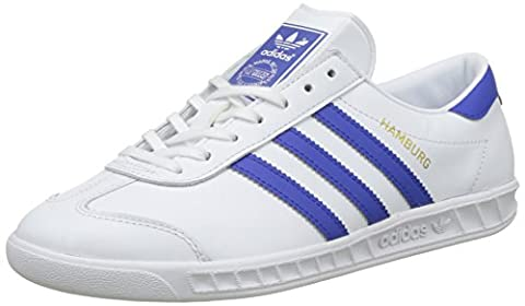 adidas Originals Hamburg Shoes, Baskets Homme, Blanc (White/bold Blue/gold Metalic), 42 EU