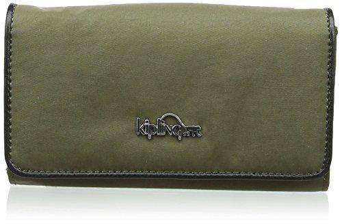 kipling-yelina-kt-portafoglio-da-donna-verde-vert-cactus-khaki-j89-15-cm
