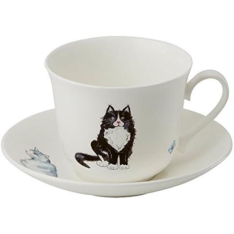 Roy Kirkham taza y platillo, gatos