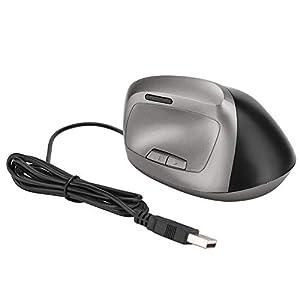 ASHATA Ergonomische PC-Maus Design 1200 DPI Vertikale USB-Maus mit Kabel für Windows 98/2000/ME/XP/Vista/Win7/8/10 MACOS(Schwarz)