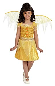 Atosa- Disfraz Hada, Color amarillo, 3 a 4 años (10736)