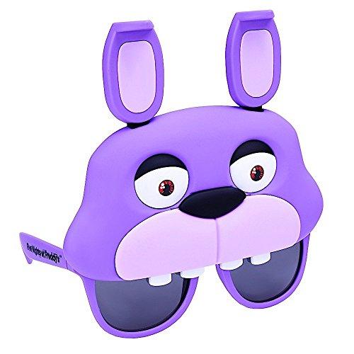 sun-staches cinque notti Freddy (Freddy Fazbear, Bonnie coniglietto, Foxy Fox, Chica) viola Purple One Size Fits Most (US Size)