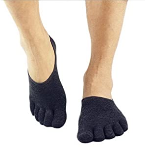ACME Herren Jungen Fashion Yoga Socken Full Toe Sportsocken,Anti-Rutsch,5-Zehen Socken