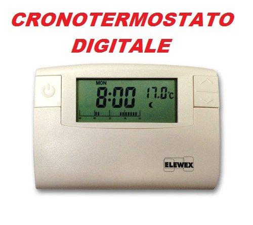 ELEWEX CRONOTERMOSTATO DIGITALE PROGRAMMABILE 7 GG TERMOSTATO BIANCO