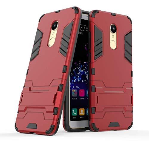 """Max Power Digital Funda para Xiaomi Redmi 5 (5.7"""") con Soporte - Carcasa híbrida antigolpes Resistente (Xiaomi Redmi 5, Rojo)"""