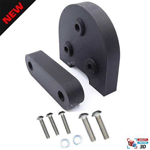 Quality Printing 3D Upgrade Verbessern auf 10 Zoll / 25,4 cm Rad Reifen für e Scooter Xiaomi M365 / Pro, Die besten Gadgets für Elektro Scooter, Upgrade Kit für Scooter Reifen (Weiß)