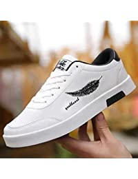 Labbin Mens Casual Sneakers Shoes in Canvas White Sneakers Lightweight Shoes White