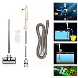 elettrico ghiaia pulitore rondella sifone vuoto acqua pompa filtro per acquario, sifone elettrico per acquario