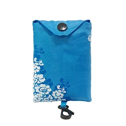 wiederverwendbar Shopper Taschen, squarex Frauen faltbar wiederverwendbar Nylon Eco Einkaufstasche Handtasche Aufbewahrungsbox Lebensmittels Staubbeutel, Nylon, himmelblau, AS SHOW
