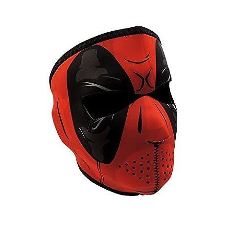 Zan Accessoires visage complet rouge Dawn Masque de protection en néoprène, modèle:, Outils & Hardware Store