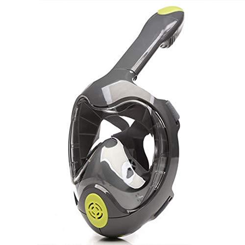 GYJ Schnorchel-Maske ohne Gesicht, Schnorchelmaske mit 180°-Panorama-Sicht, Anti-Beschlag-Design und Anti-Leck-Technologie.