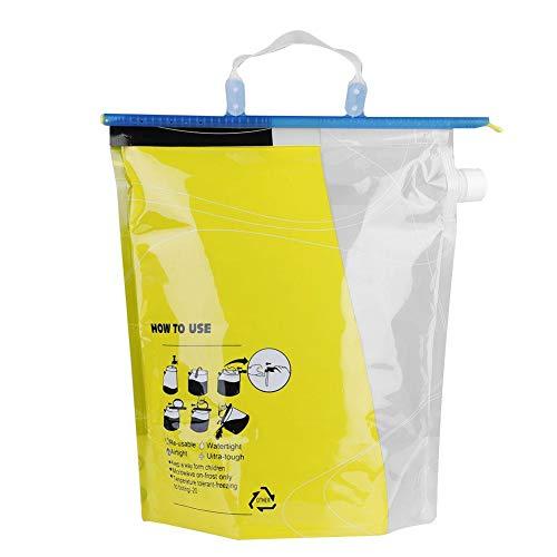 Jacksking Flüssigkeitsbeutel, 6L Getränke Saft Wasser Auslauf Blasentasche Laufen Wandern Radfahren(Schwarz) (Saft-auslauf)