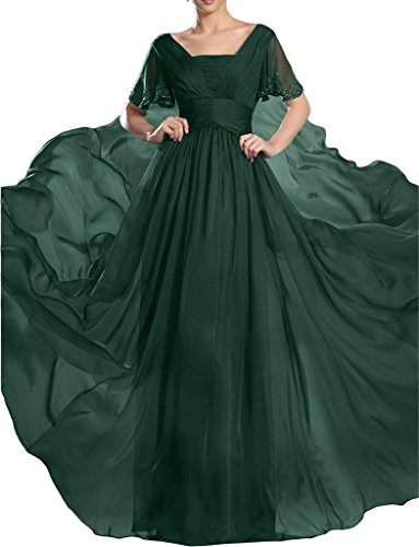 ivyd ressing robe robe de soirée ligne haute qualité pierres manches courtes A Prom Lave-vaisselle robe robe du soir Vert foncé