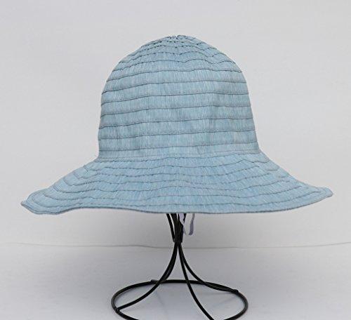 Bigood Bob Souple Vogue Chapeau Femme Soleil Pliable Plage Été Vacance Bleu