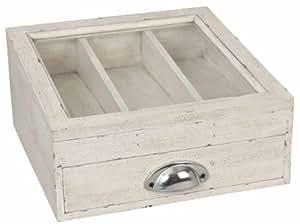 6h0548 range couverts en bois sans contenu env 30 x 30 x 15 cm cuisine maison - Range couverts 30 cm ...