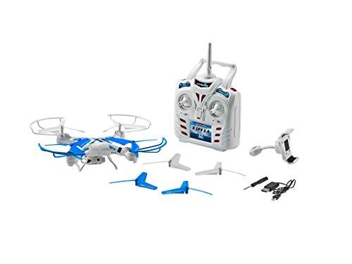 Revell Control RC Quadrocopter mit FPV Kamera, Live-Übertragung über WiFi, Video-Stream aufs eigene Smartphone, ferngesteuert mit 2,4 GHz Fernsteuerung, Wechsel-Akku, Propellerschutz - X-SPY 2.0 23954