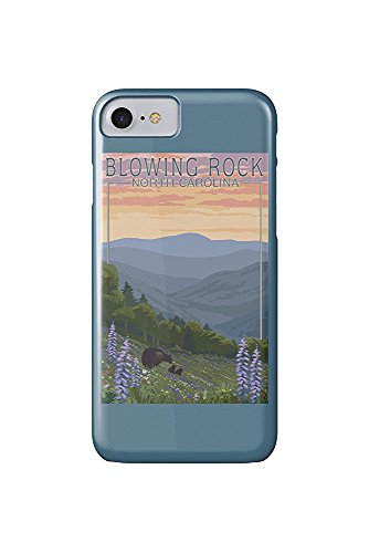 Blowing Rock, North Carolina - Spring Flowers and Bear Family (iPhone 7 Cell Phone Case, Slim Barely There)