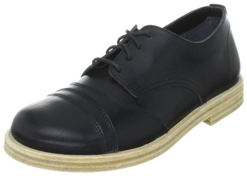 Swedish Hasbeens Old Tennis Shoe 007, Scarpe basse unisex adulto Nero (Schwarz (Black/Nature))