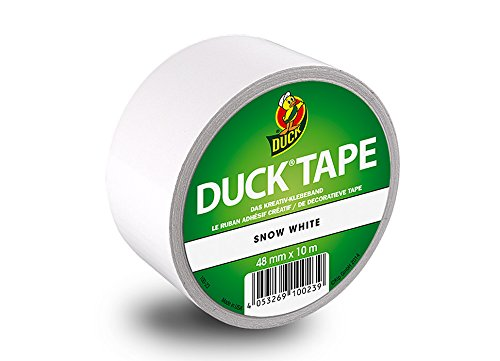 Duck Tape 104220 Gewebeband, 48 mm x 9,1 m, Snow White