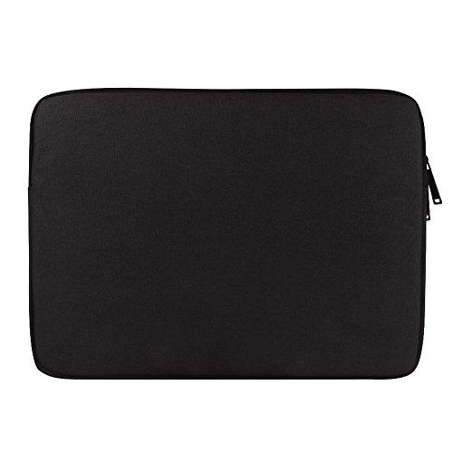 Laptop Hülle Tasche für 13-13.3 Zoll Macbook Mac Air Pro Retina Leinwand Wasserdicht,Schwarz