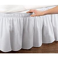 Cama falda con volantes cama elástica envuelve estilo volantes 18 cm Drop, algodón, ...