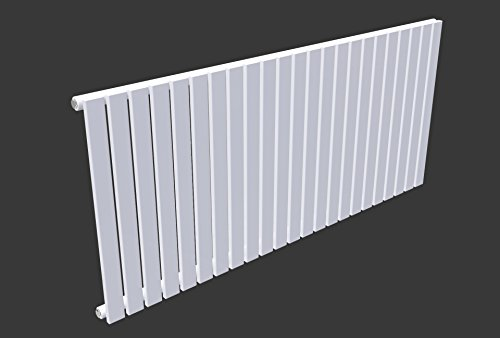 Simple Home |635 mm icaunus horizontaler Designer Heizkörper Single Panel verdoppeln Piana, weiß -