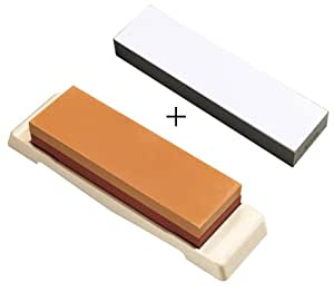 Sharpening stone set with combination 1000/3000 and Fishing stone grit #8000