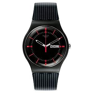 Swatch SUOB714 - Orologio da polso uomo, Silicone, colore: Nero