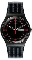 Idea Regalo - Swatch SUOB714 - Orologio da polso uomo, Silicone, colore: Nero