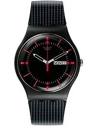 Swatch Herren-Armbanduhr Analog Quarz Silikon SUOB714