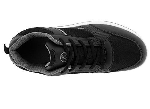 Chaussures Glutei Mouillé Eglemtek® Tm Bien-être Sports Minceur Fitness Gymnastique Panier Aérobie (nylon Mod.) Noir Gris Foncé
