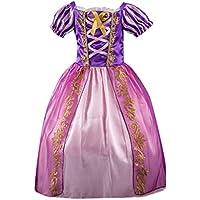 ASHOP Vestidos de Princesa 2019 Tutú Faldes de Fiesta Estampado Rayas Bling Vestido T-Shirt Manga Larga Algodón Casual Niñas 1-7 Años
