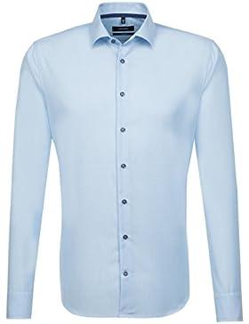 SEIDENSTICKER Herren Hemd Tailored Langarm Bügelfrei Uni / Uniähnlich Businesshemd Kent-Kragen Kombimanschette...