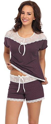 Merry Style Damen Schlafanzug Pauleen Violett