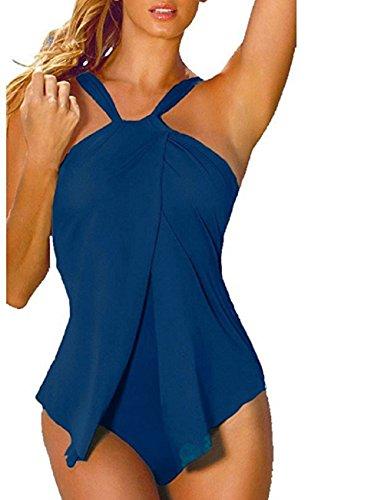Costumi da bagno donna interi brasiliana sexy monokini swimsuit moda bikini un pezzo senza schienale tankini piscina trikini halter beachwear bathingsuit per mare spa – landove