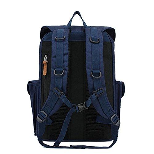 Z&N Backpack Multifunzionale all'aperto trekking viaggio alpinismo borsa a tracolla moda grande capacità borsa casual portatile camping outdoorblack23L blue