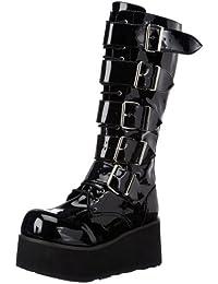 Demonia by Pleaser Men's Trashville-518 Goth Boot, Black Patent, 9 M US