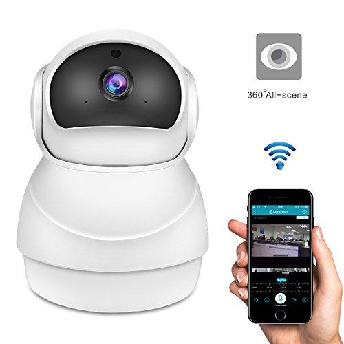 2.0MP 1080P FHD Drahtlose WLAN IP Kamera Überwachungskamera 360 Grad, AOZBZ Panoramische Nachtsicht Baby-Monitor-Nanny-Kamera Unterstützungs videoverschlüsselung 2-Wege-Audio für iOS Andriod