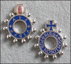 Ave Maria Ruega por Nosotros Spanisch Rosenkranz Ring (Kirche Weihnachten Spiele Für Erwachsene)